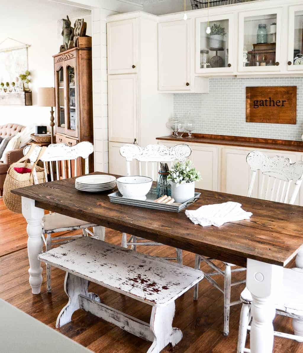 Easy diy farmhouse table my creative days for Build your own farmhouse