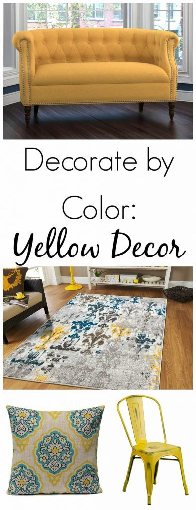"""If you are looking for yellow home decor, you can come to the right place. Click over to find beautiful yellow home decor to add some """"happy"""" to your space!"""