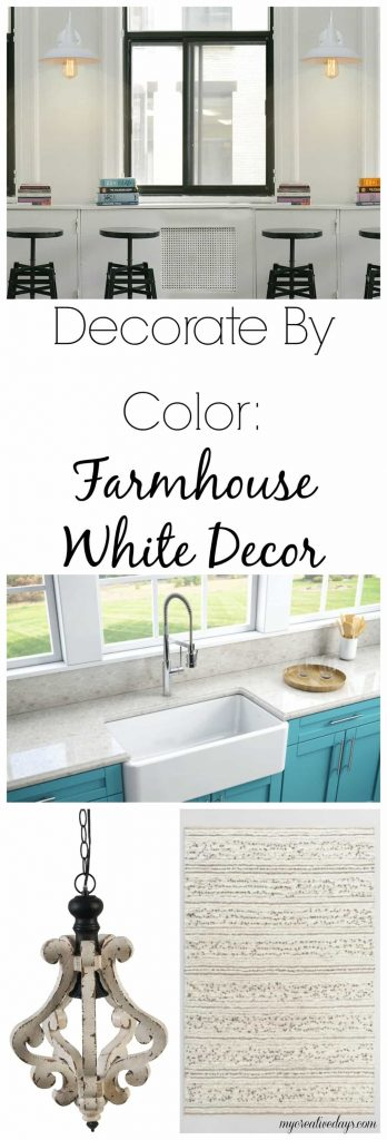 Decorate By Color: Farmhouse White Decor - Looking to bring a farmhouse feel to your decor? Check out these beautiful farmhouse white decor pieces that will add a little farmhouse and the color white to your home.