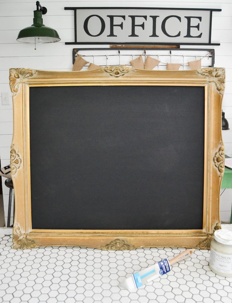 DIY Chalkboard From Thrift Store Frame - Want to make a unique chalkboard for your home? Head to the thrift store and make this DIY Chalkboard From Thrift Store Frame.