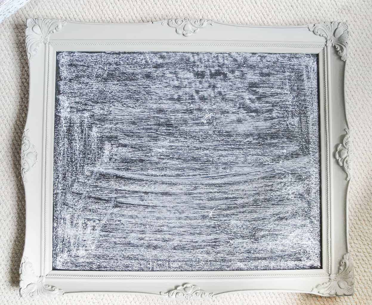 DIY Chalkboard From Thrift Store Frame - My Creative Days