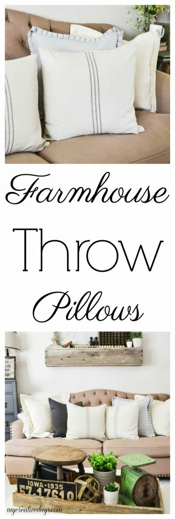 Farmhouse Throw Pillows - If you are looking for farmhouse throw pillows, look no further. This post will show you where to get them.
