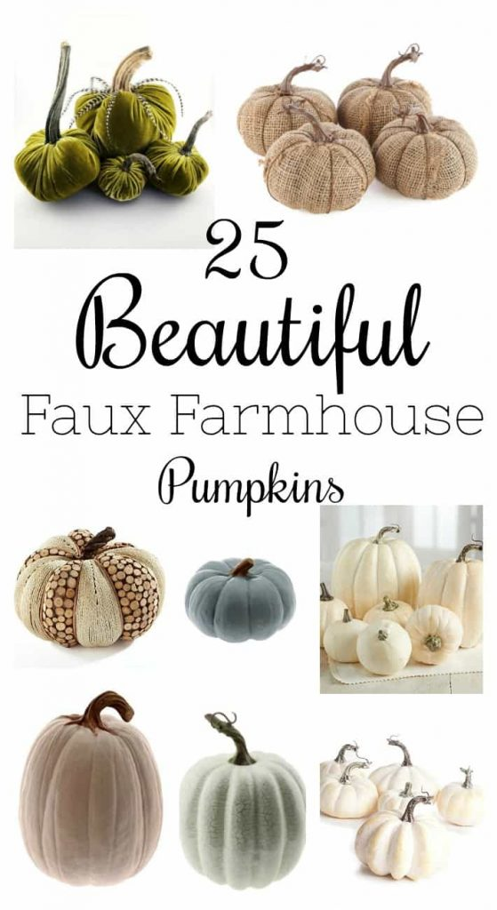Finding Faux Farmhouse Pumpkins is hard, but these 25 25 Beautiful Faux Farmhouse Pumpkins are beautiful and will fit with any fall decor style.