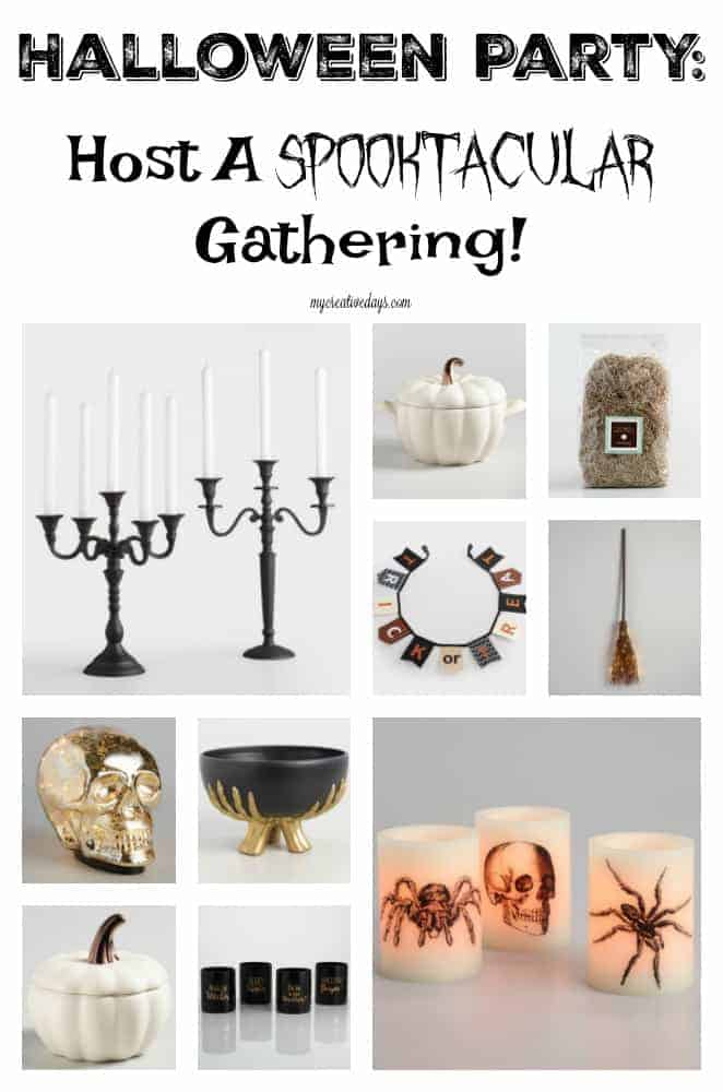 Halloween Entertaining: Hosting a Halloween Party with products from World Market will make your Halloween Entertaining easy and spooktacular!