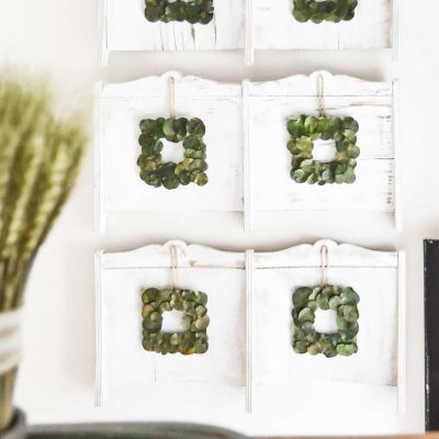 Repurposed Chairs Become Wall Decor In Entry