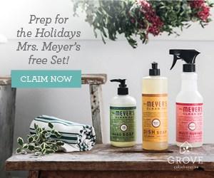 A Festive & FREE Mrs. Meyers Holiday Hostess Gift