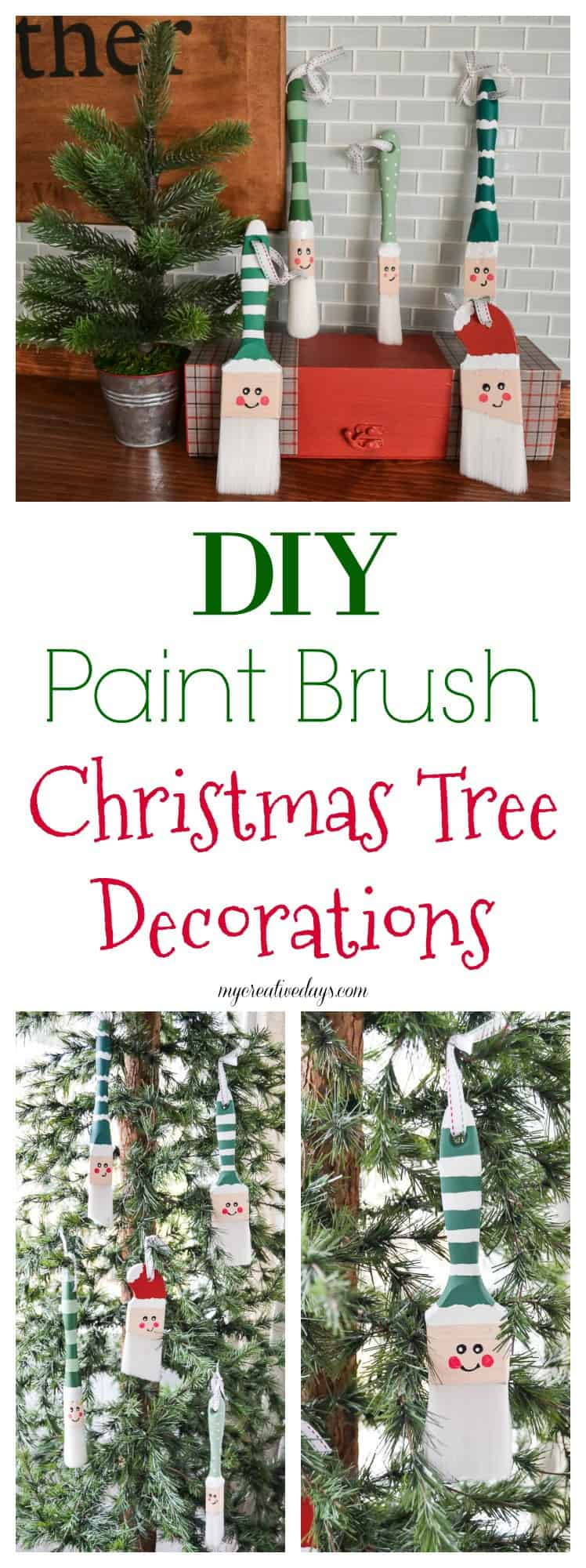 How To Make Santa Paint Brush Christmas Tree Decorations For The Tree