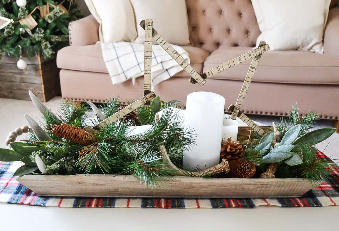 Decorate with artificial christmas greenery without