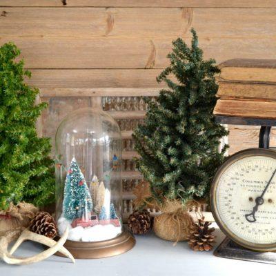 Repurposed Christmas Cloche {DIY in 30}