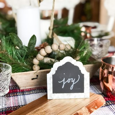 Easy Christmas Tablescape With Thrift Store Finds