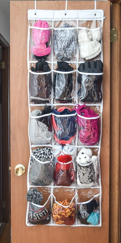 Looking for a way to get control over all the hats, gloves and scarves this winter? I have the solution for you! This is The Best Way To Organize Hats, Gloves & Scarves This Winter!