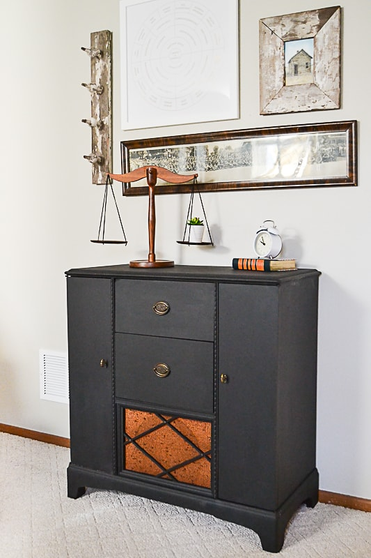 Retro radio cabinets are beautiful but when I find them, they usually aren't in working order. Click over to see how I made over this retro radio cabinet to make it a piece we can use in our home.