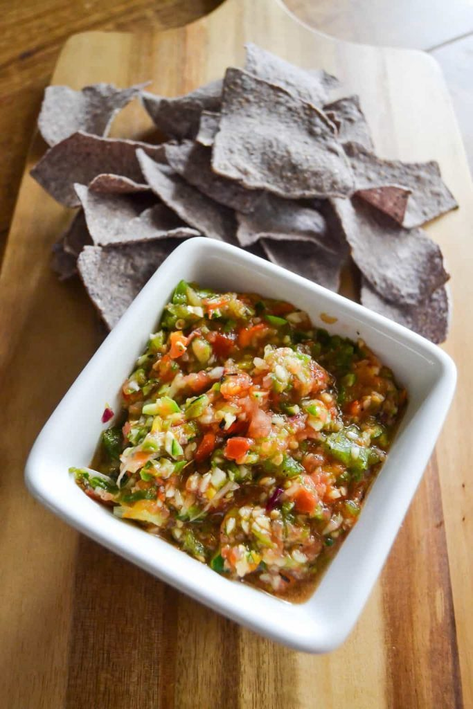 If you love homemade salsa, click over to get this easy Roasted Spicy Salsa Recipe that can be made from your garden veggies.