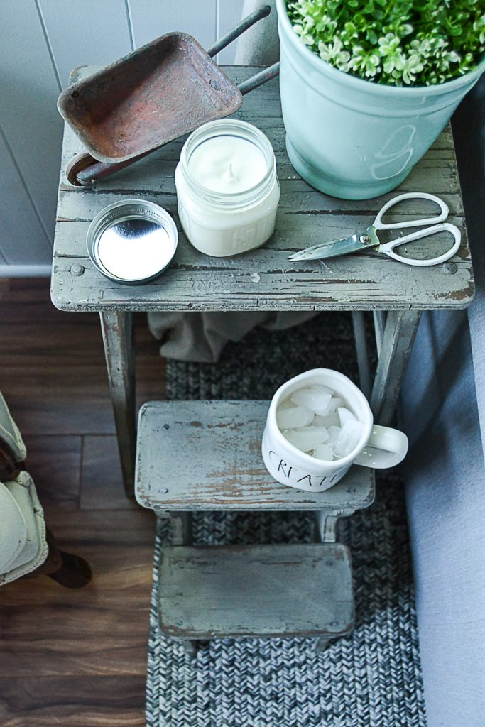 If you are in need of a small side table in your space, click over and see how easy it is to add one without spending a lot of money just by thinking outside of the box. This small side table will also add a ton of charm to your space as well!