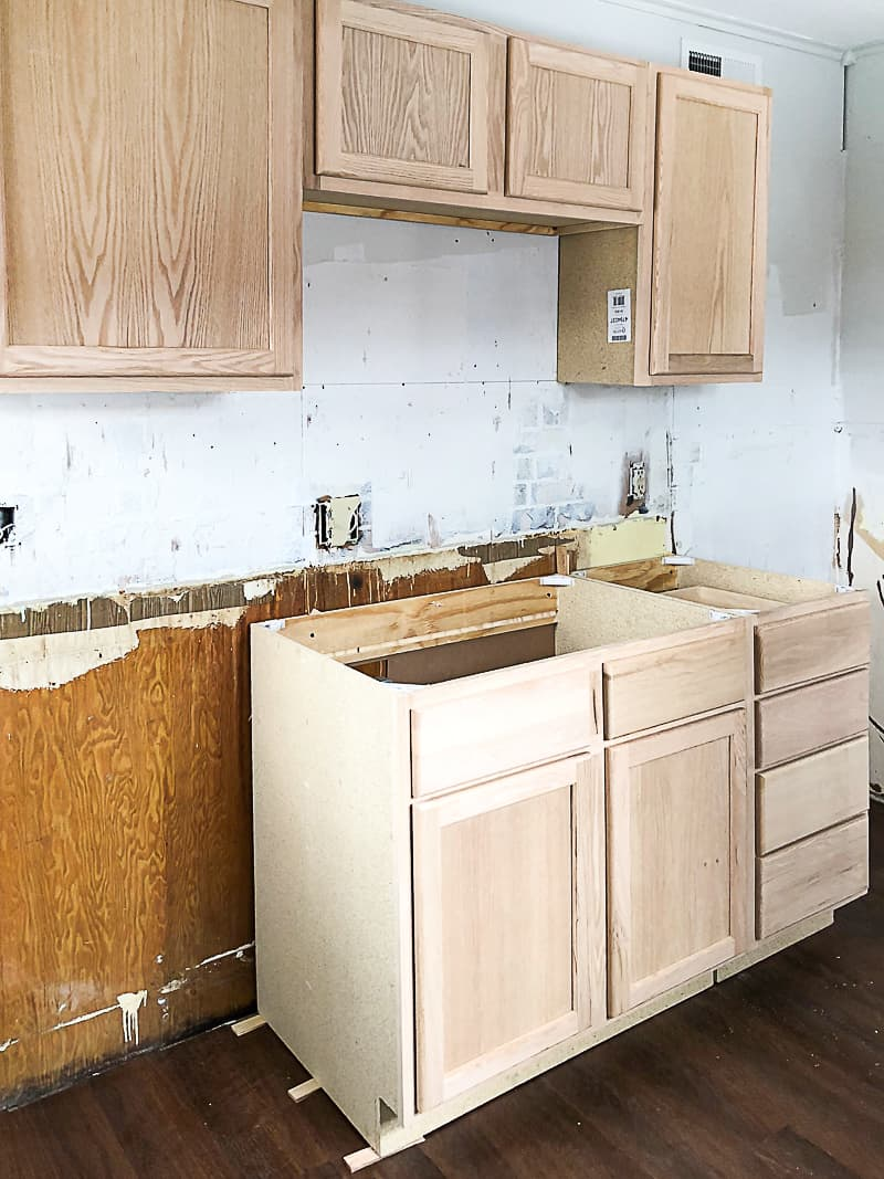 Unfinished Wood Cabinets To Make The Flip House Kitchen ...