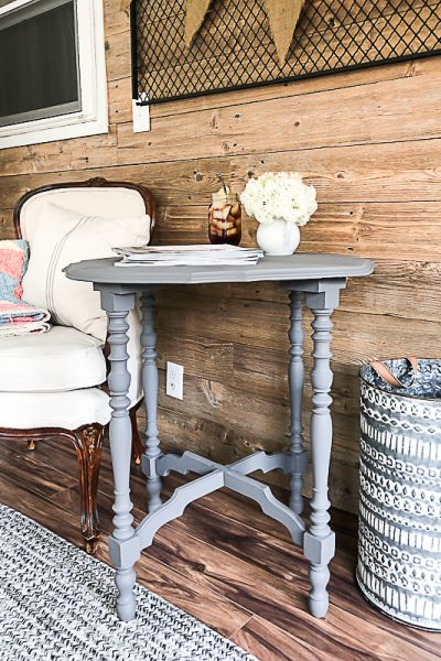 If you have your eye out for a round end table for your home, click over and see how easy it is to transform a thrift store table into the perfect round end table for your space.