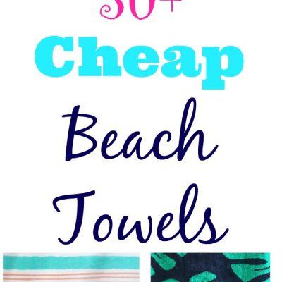 Cheap Beach Towels That Are Cute Too!