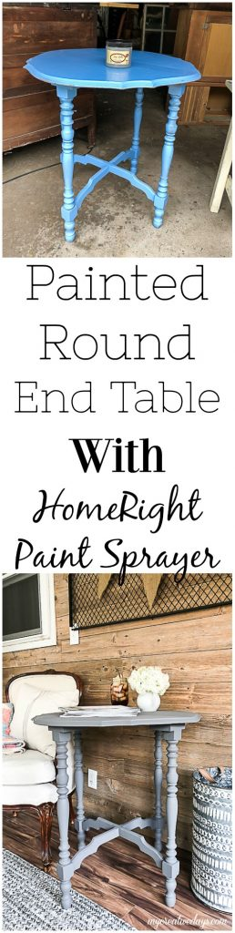 If you are looking for a round end table for your home, click over and see how easy it is to transform a thrift store table with one tool and make it the perfect round end table for your space.