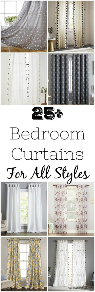 If you are looking for some new bedroom curtains, click over to find more than 25 bedroom curtain options that fit any and every style.