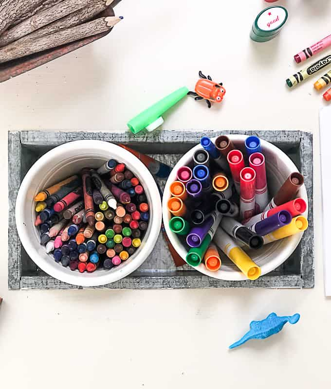 If you are looking for a cute table for your child to do activities on, click over to see how easy it is to DIY a toddler activity table with some thrift store finds.