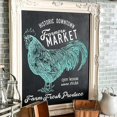 If you are looking for a kitchen chalkboard sign, click over to see how you can create any kind of kitchen chalkboard sign in under 30 minutes with Chalk Couture.