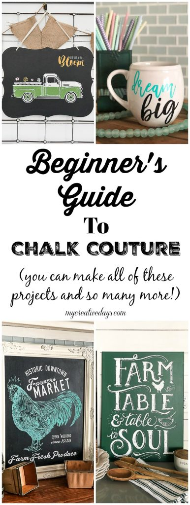 You have heard a lot about Chalk Couture, but what is it? Click over to find a beginner's guide to Chalk Couture that will explain what all the hype is about this amazing craft line.