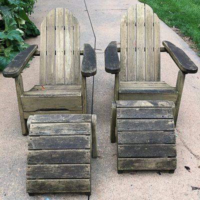 Folding Adirondack Chairs Makeover