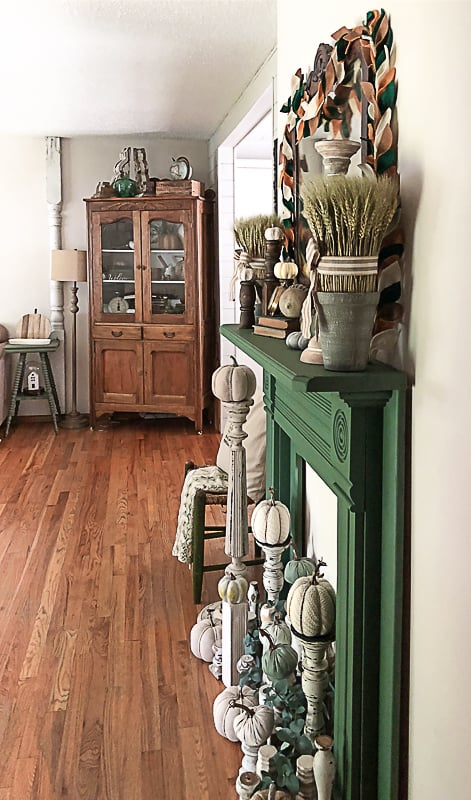 If you are looking for a wood fireplace surround, click over to see how we made over this wood fireplace mantel we found at a thrift store to fit our home.