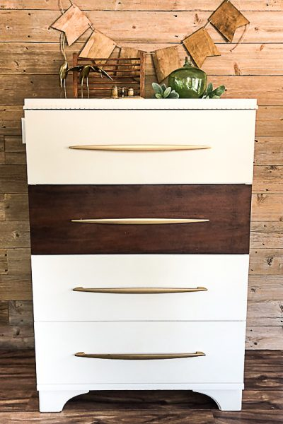If you love the look of a Mid Century Modern Dresser, click over to find the easy way to DIY one that will save your budget!