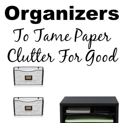 If you are ready to tackle the paper clutter in your home, click over and find more than 30 paper organizers that will help you!