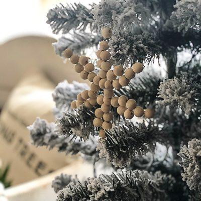 Unique Christmas Ornaments: Wood Bead Stars & Snowflakes