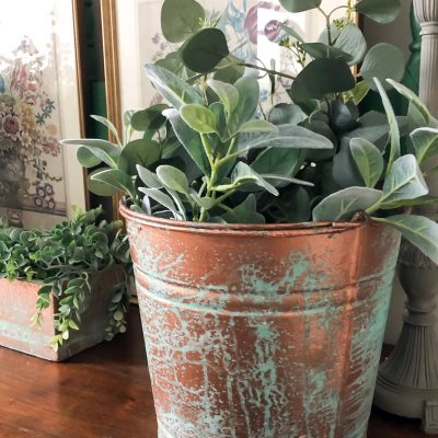 If you love the look of aged copper, this post will show you How To Create Aged Copper Patina On Any Wood & Metal surface easily and quickly!