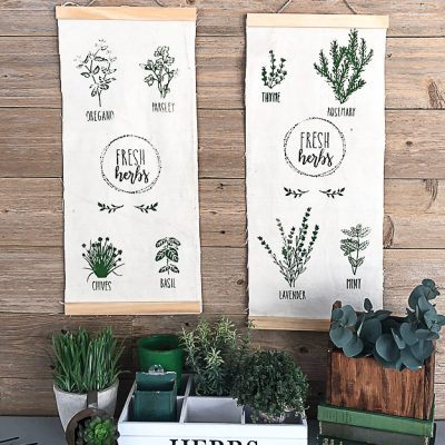 DIY Botanical Herb Wall Hanging With Chalk Couture