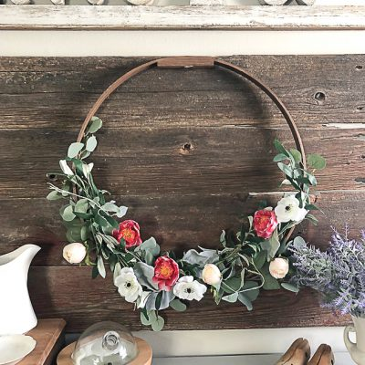 DIY Spring Eucalyptus Wreath