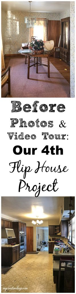 Thinking about flipping houses? This is the before photos and video tour of our fourth flip project.
