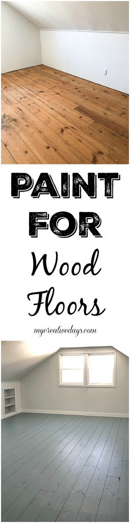 If you want to paint a wood floor, this post will show you some different color options and the paint for wood floors we used and loved!