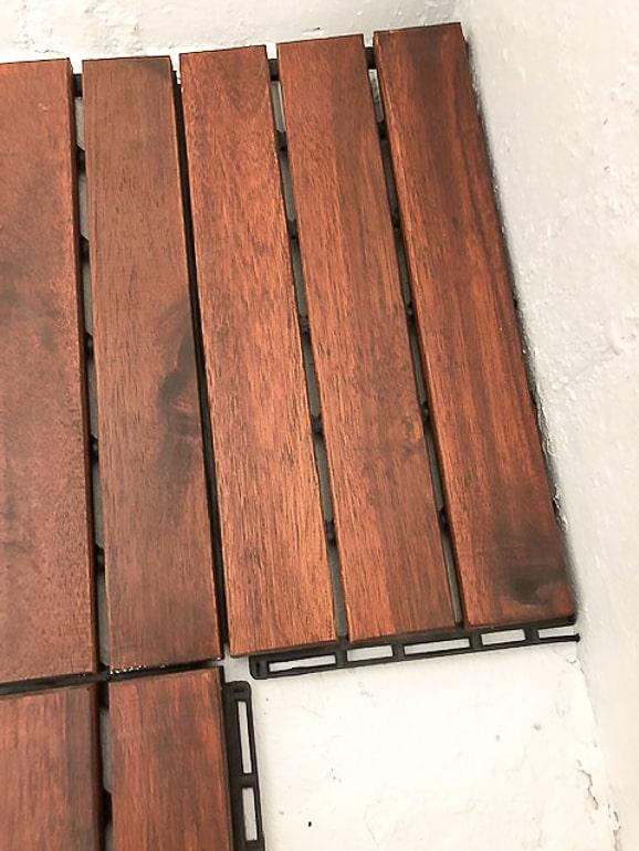 Cut Acacia Deck Tile