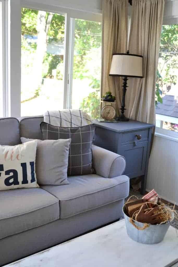 DIY back porch makeover