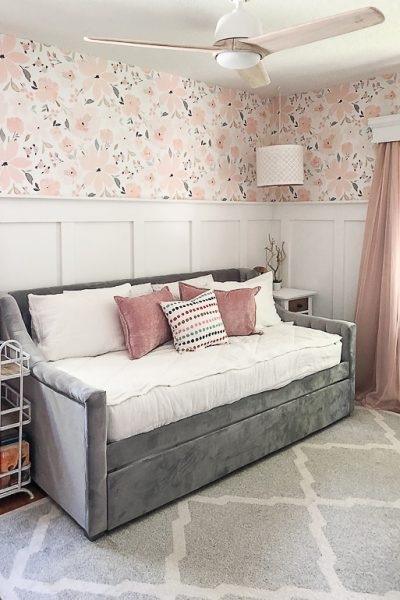 Teen girl's bedroom makeover that is packed full of useful tips, sources to shop and an end result that your teen will love for years to come.