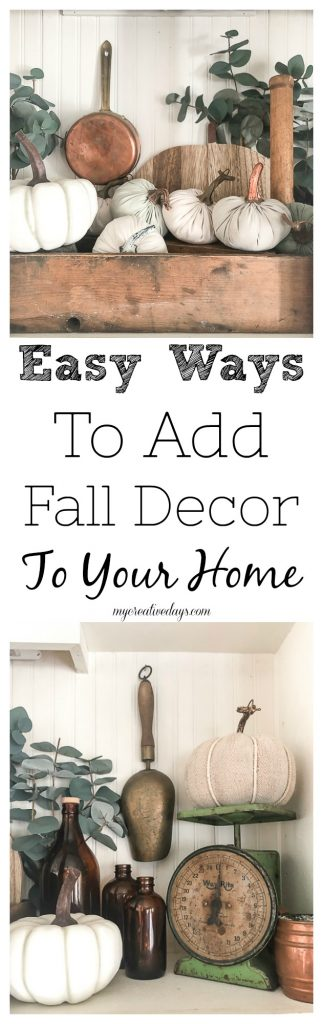 Ready to decorate for fall? The tips in this post are meant to help you think outside of the box when it comes to adding fall decor to your home.