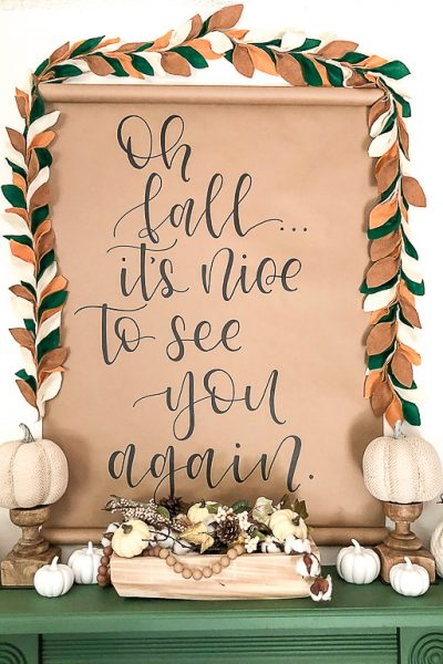 Wall scrolls are a unique piece of art to add to your home. Click over to see how you can get this scroll or one like it for your home this fall.