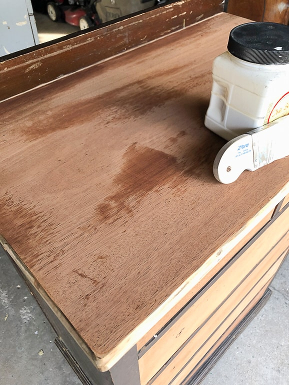 wipe down furniture after you sand it