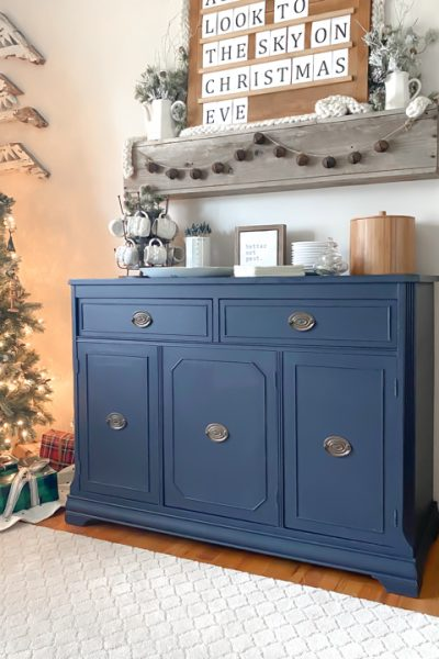 DIY vintage buffet makeover - The step by step tutorial to renovating an old buffet into a beautiful and versatile piece of furniture every home can use.