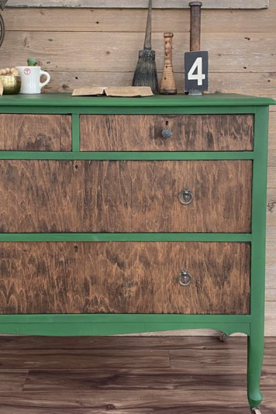 Thrift store makeovers can yield custom home decor that fits your style perfectly. This Vintage Dresser Makeover shows how to do it successfully.
