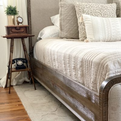 A master bedroom makeover to turn our bedroom into a space we can retreat to after a long day. Sources, projects and links included.