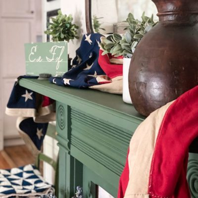 Decorating for July 4th doesn't have to be hard or expensive. This 4th Of July Mantel came together with one great yard sale find and things I had on hand.