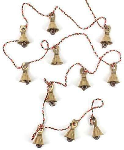 strand of antique brass bells