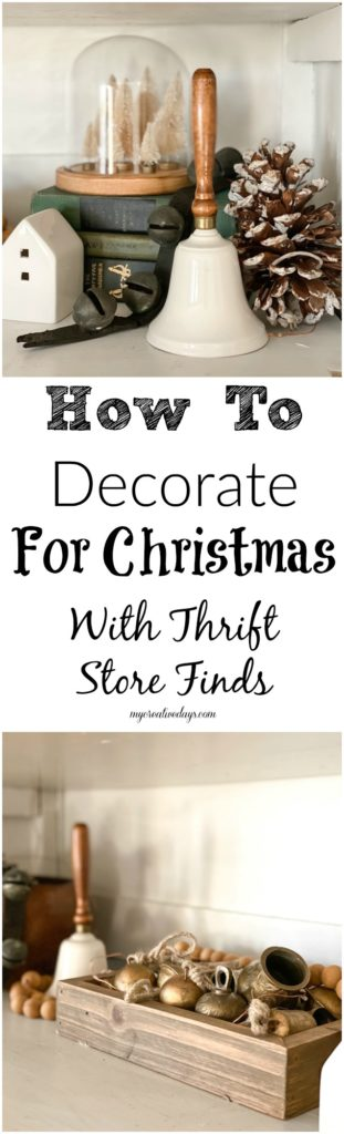 I am sharing how to decorate for Christmas with thrift store finds. This way of decorating ensures you get the look you want for a lot less.