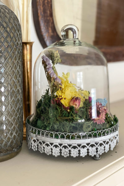 This DIY Anthropologie dupe is a customizable way to create the exact look of the floral cloche in minutes and for a lot less money.