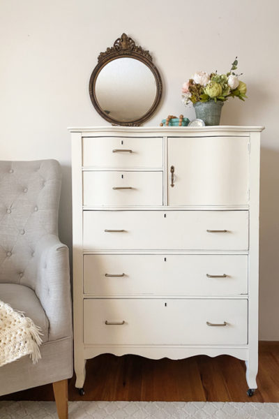 This DIY Painted Dresser is a great example of how you can save money decorating your home by flipping furniture to get the look for less.